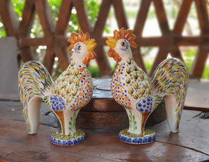 "Rooster Figure 12.6"" Set of 2 Multicolors"