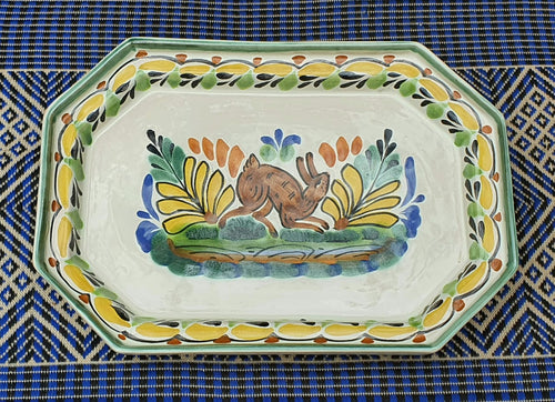 Rabbit Small Octagonal Tray Multicolors