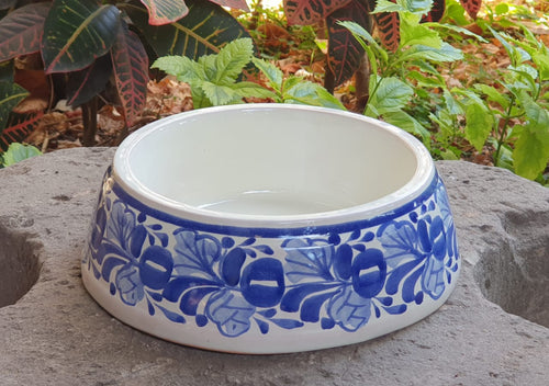 Dog Bowls Blue and White