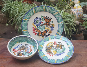Butterfly Dinner Set of 3 Multi-colors