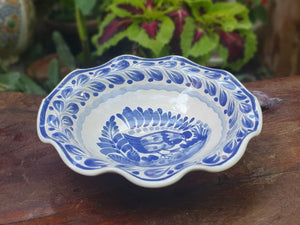 Chicken Flouted Pasta Bowl Blue and White