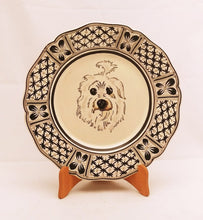 "Custom Made Dog Plate 11"" D Black (place your order and send us the picture of your friend!!)"
