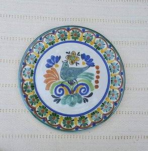 "Bird Salad Plate 8.7"" D Multicolor"