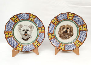"Custom Made Dog Plate 11"" D SET 2 Colors (place your order and send us the picture of your friend!!)"