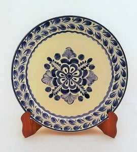 Flower Plates Blue and White