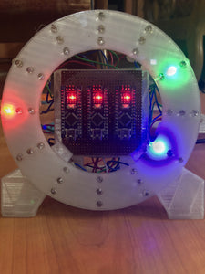 Make your own 3D printed flashing LED dial clock!