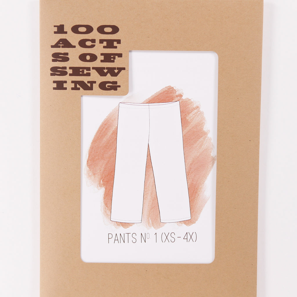 Pants No. 1 by 100 Acts of Sewing - Printed Pattern