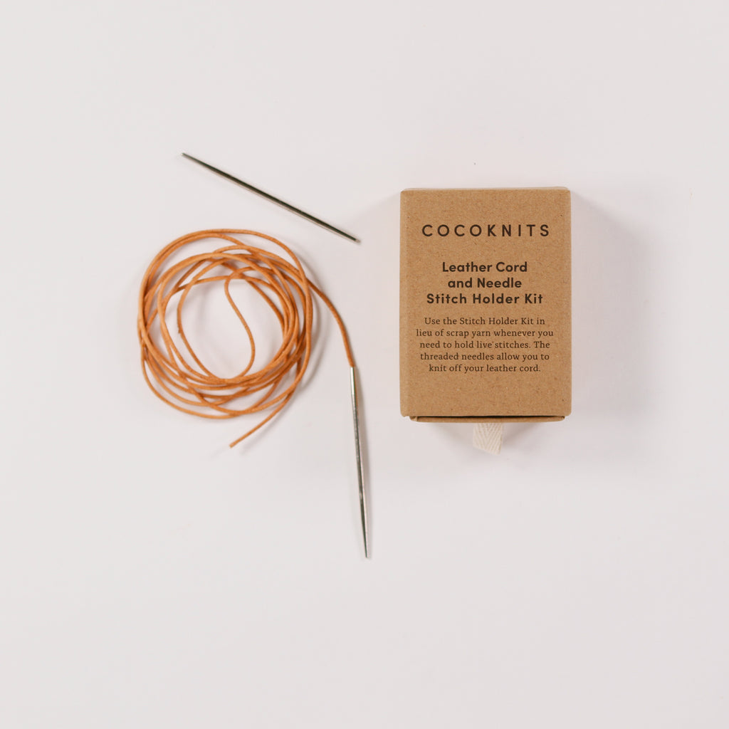 Leather Cord & Needle Stitch Holder Kit from CocoKnits