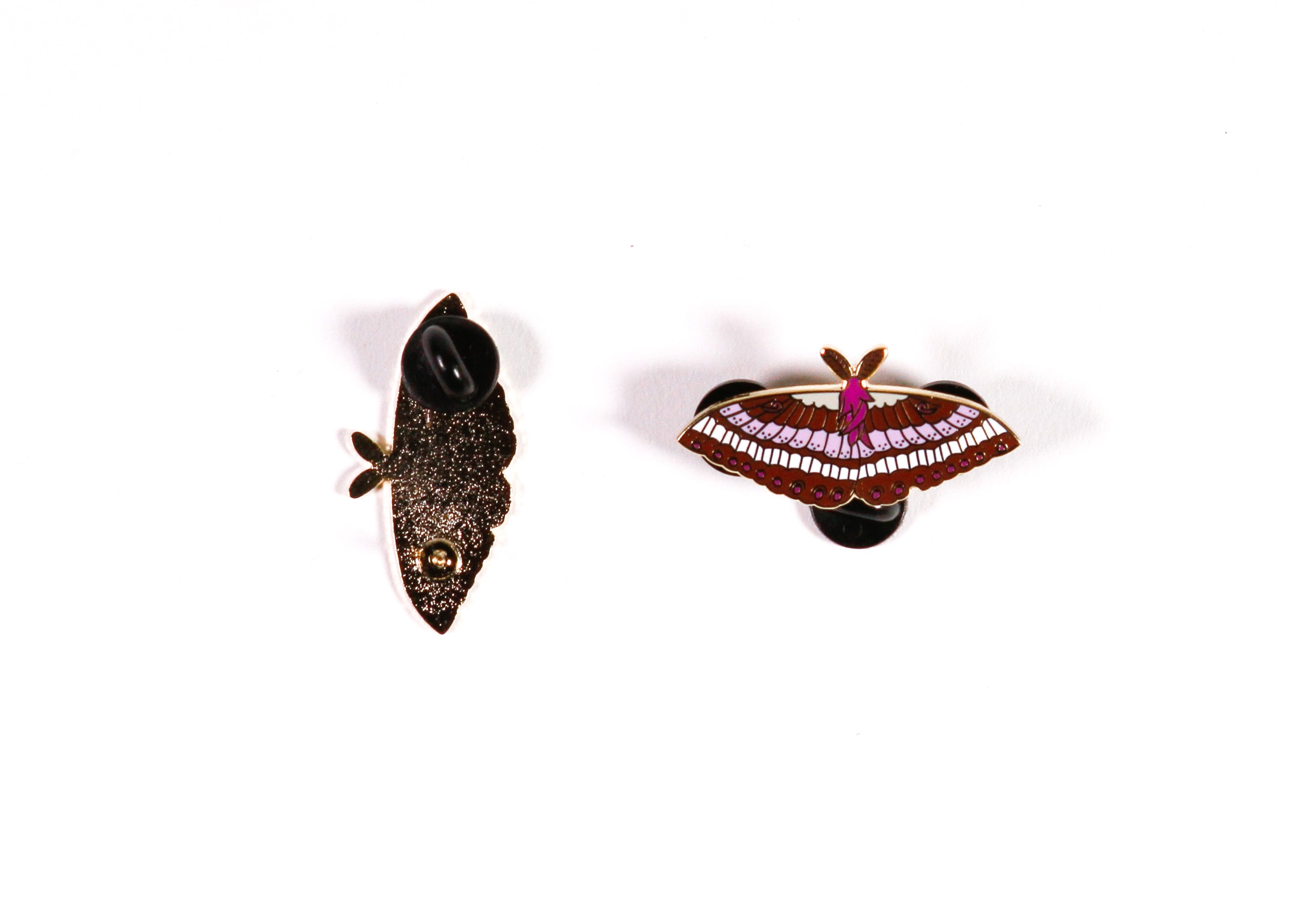 Enamel Black Witch Moth Pin