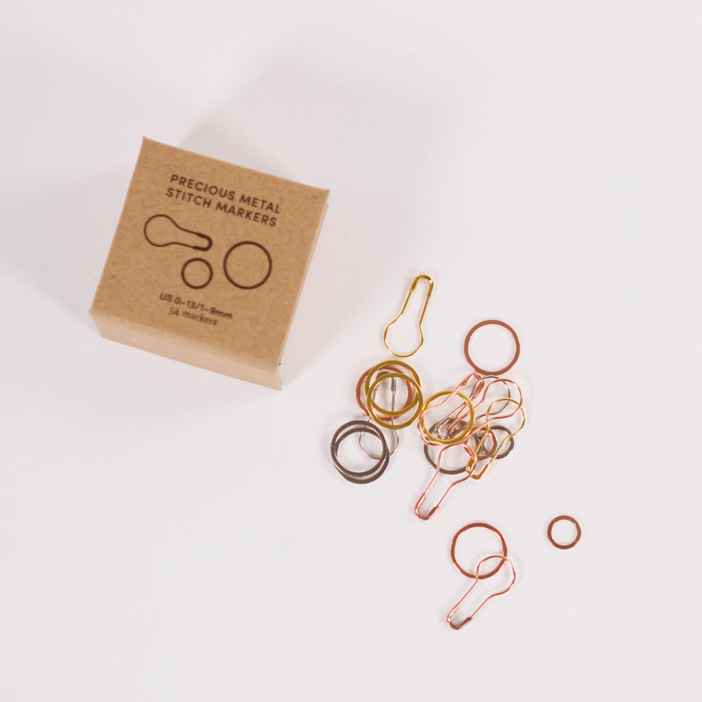 Precious Metal Stitch Markers from CocoKnits