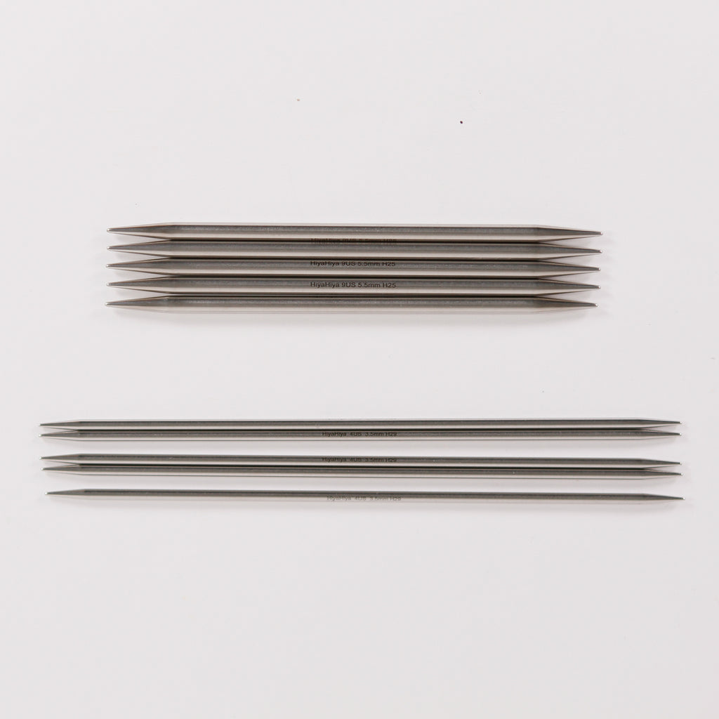 Stainless Steel Double Point Needles from Hiya Hiya
