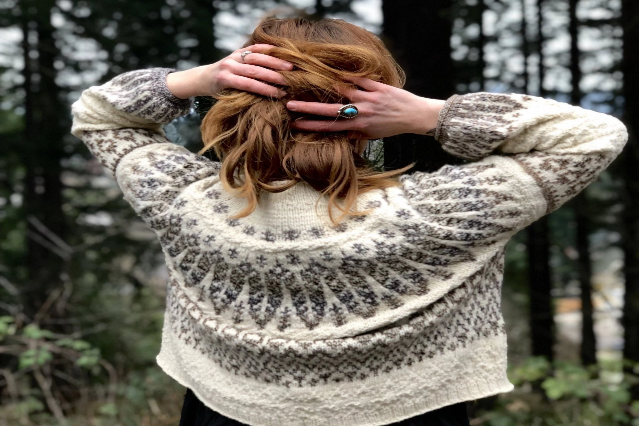 Koivua Sweater Kit by Boyland Knitworks