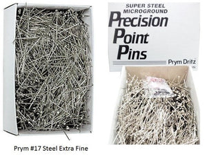Steel Extra Fine Satin Pins 1 2 Lb Premium 1 1 16 1 Box Pack Prym #17