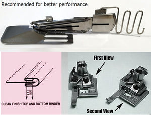 CoverStitch Machine Binder, Double-Fold Binding Attachment For Flatbed Machine ( presser feet no included )