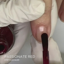 Load and play video in Gallery viewer, Passionate Red Application | Dazzle Dry Nail Polish
