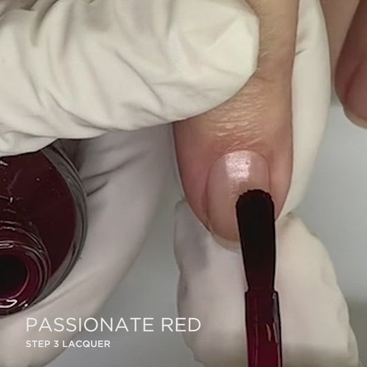 Passionate Red Application | Dazzle Dry Nail Polish