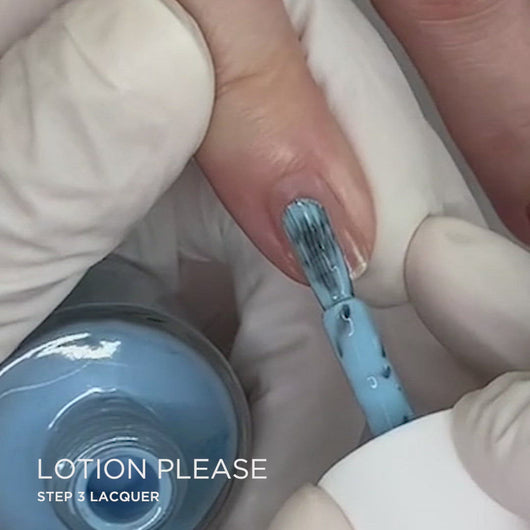 Lotion, Please! Application | Dazzle Dry Nail Polish
