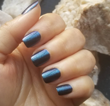 Load image into Gallery viewer, Blue Blood Dazzle Dry Nail Lacquer - Vegan Nail Polish