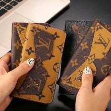 Louis Vuitton Leather Wallet Phone Case For iPhone XS