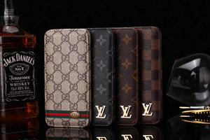 Louis Vuitton Leather Wallet Phone Case For iPhone X