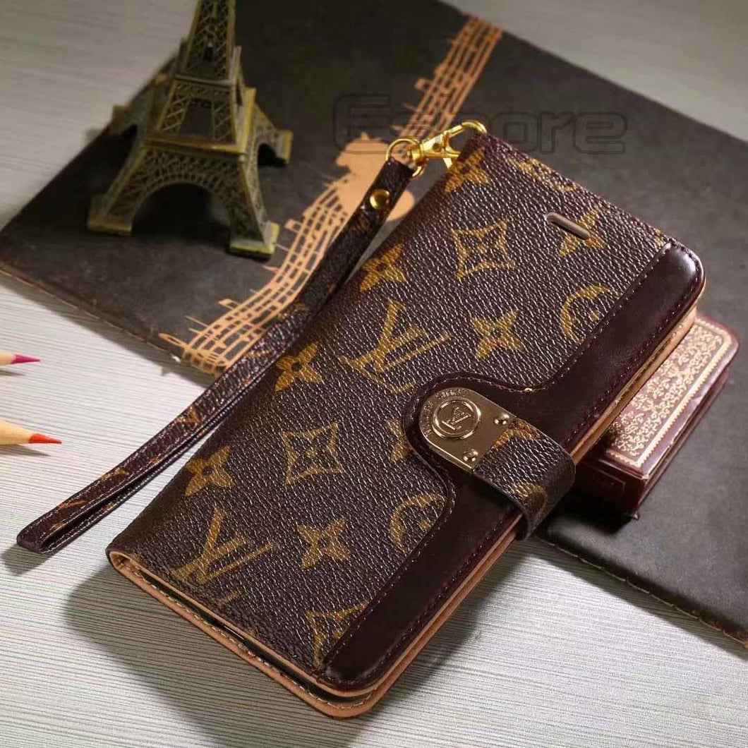 Louis Vuitton Leather Wallet Phone Case For Galaxy Note 9