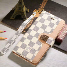 Louis Vuitton Leather Wallet Phone Case For Galaxy S8