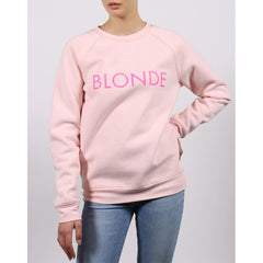 BTLF003-BSPNK, BALLET SLIPPER, PINK, BRUNETTE THE LABEL, BLONDE CORE CREW, WOMENS CREW NECK SWEATSHIRTS