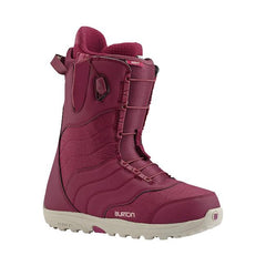 burton mint snowboard boot side view womens boots maroon 10627103609