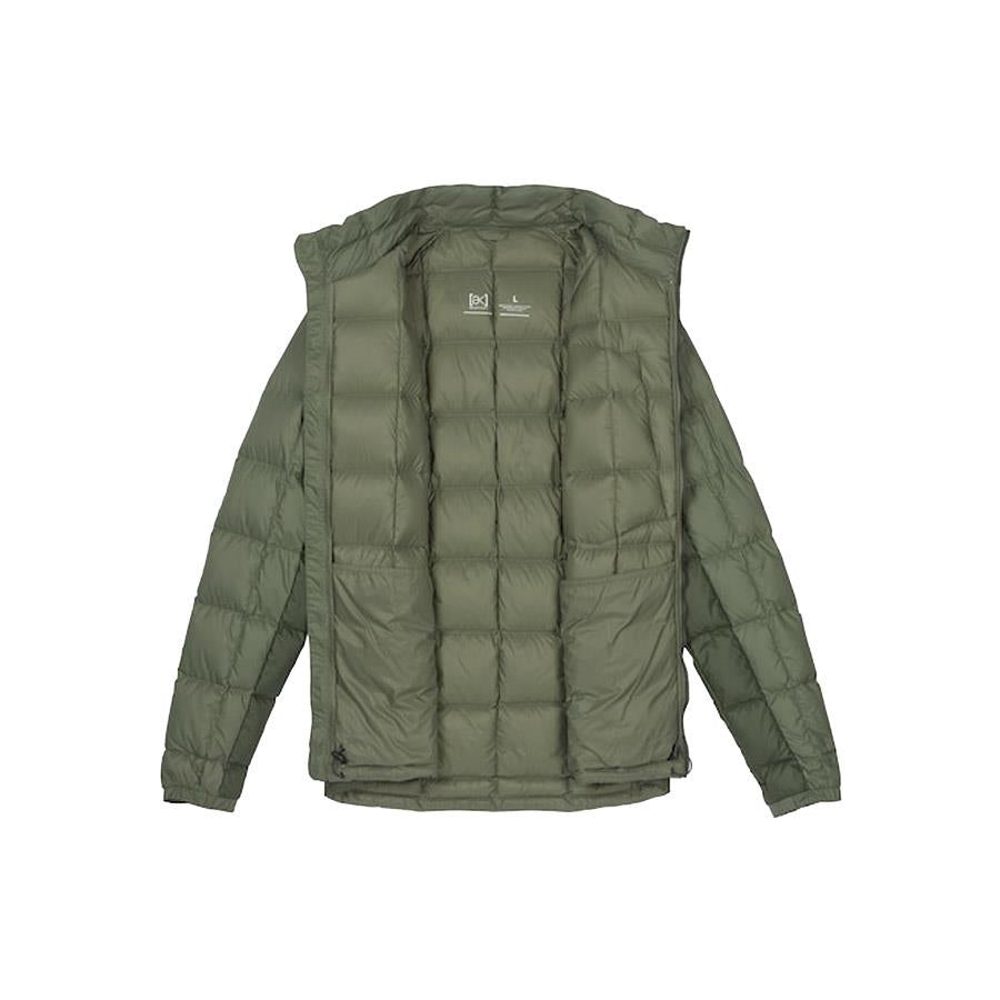 burton ak bk down insulator jacket inside  view mens isulated snwboard jackets olive 10003104300