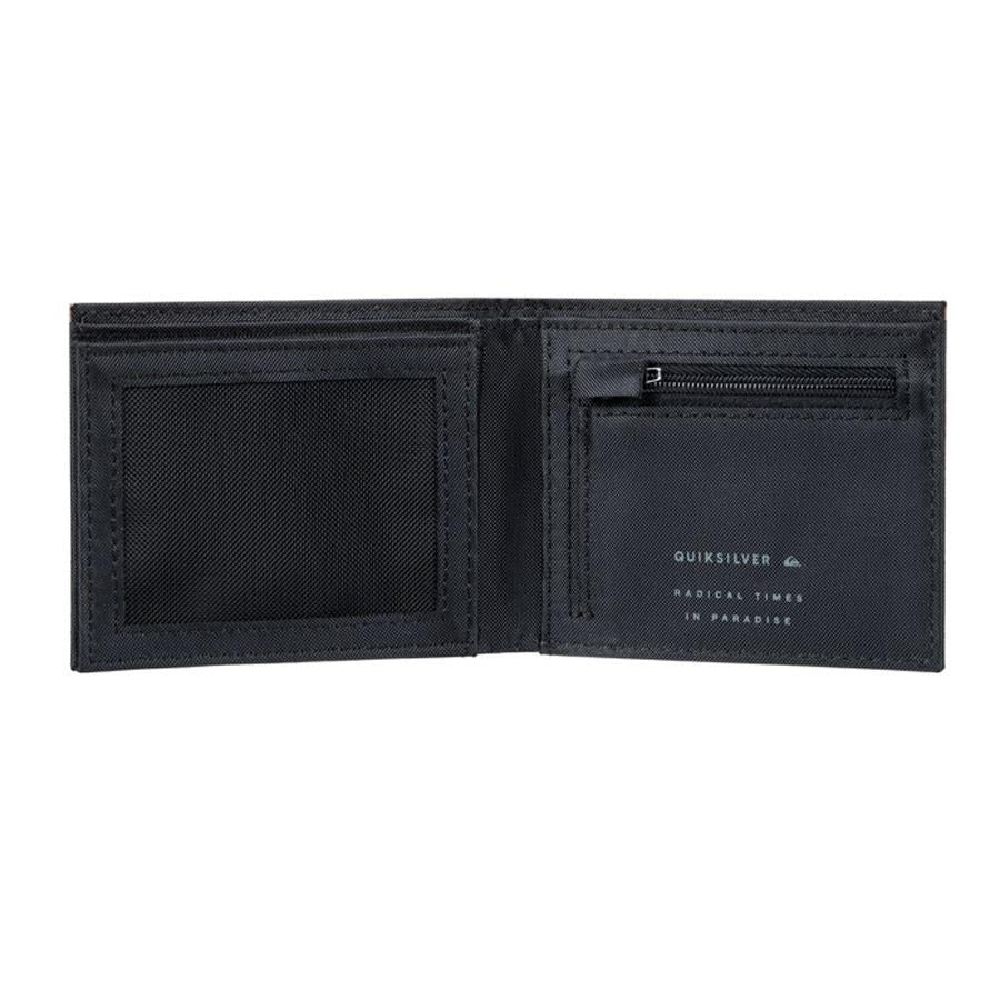 quicksilver stitchy bi-fold wallet inside view mens wallets black eqyaa03636-kvj0