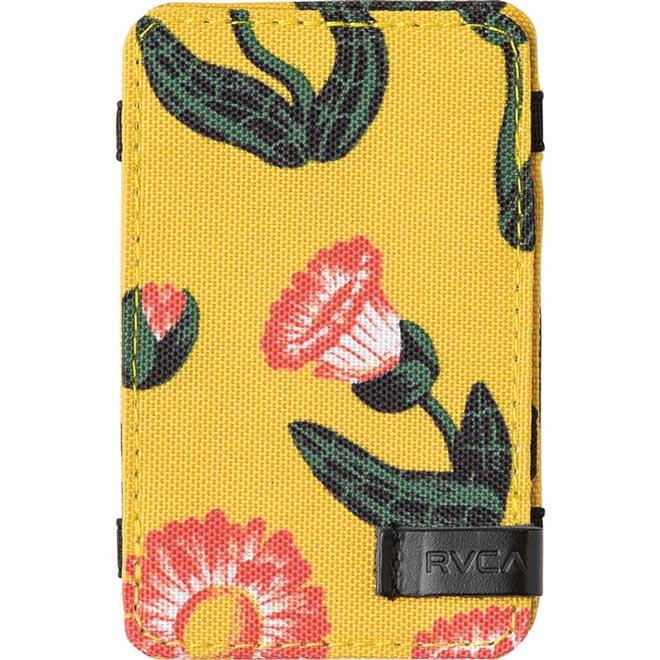 rvca luke magic wallet front view mens wallets yellow mawtnrlm-yel