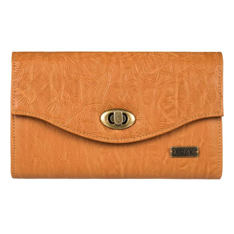 roxy pink motel faux leather wallet front view womens wallets camel erjaa03400-nlf0