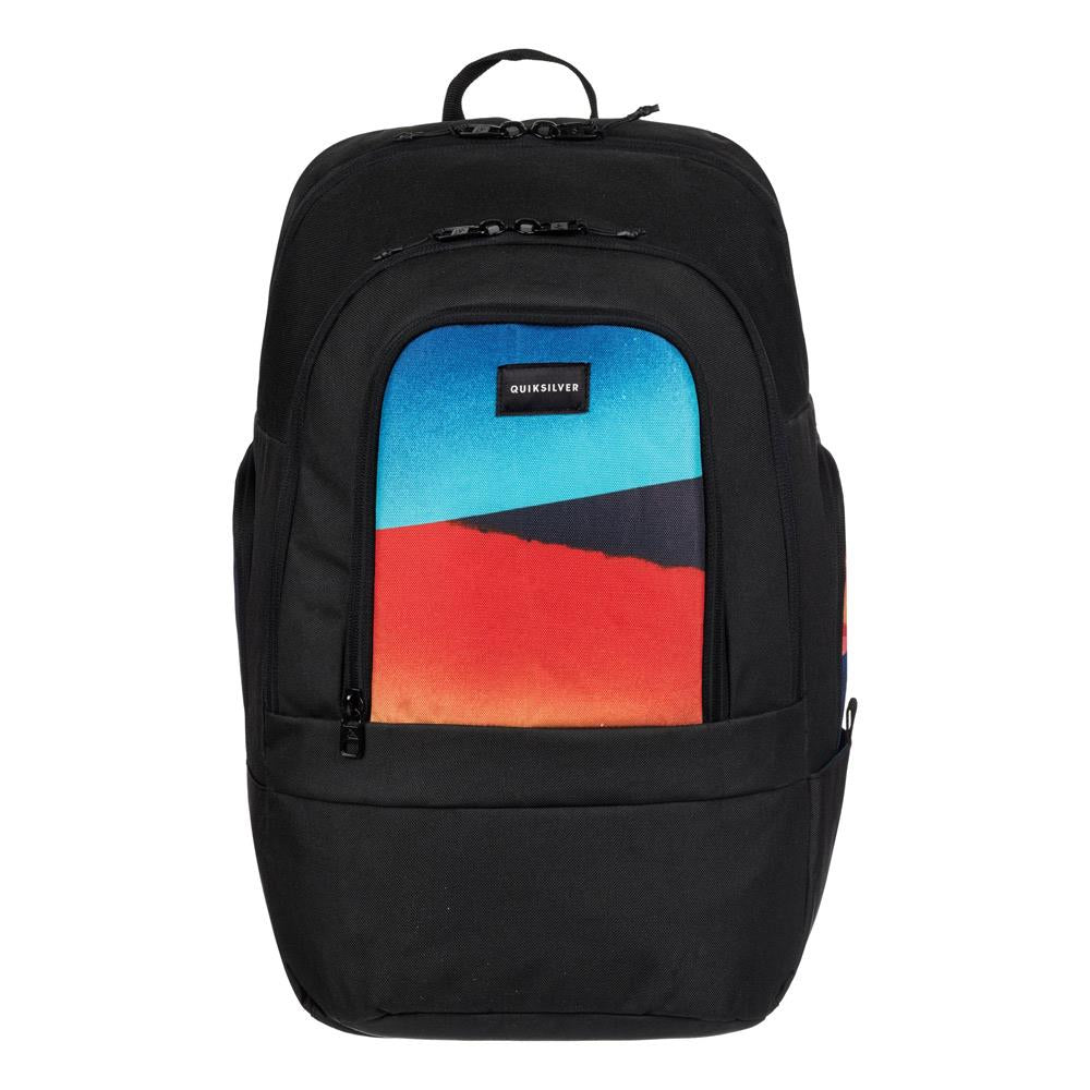 quicksilver 1969 Special front view School Backpack black/blue eqybp03424-bsg9