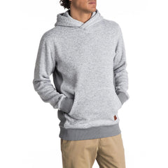 quicksilver Keller Hood front view  Mens Pullover Hoodies light grey eqyft03660-sgrh