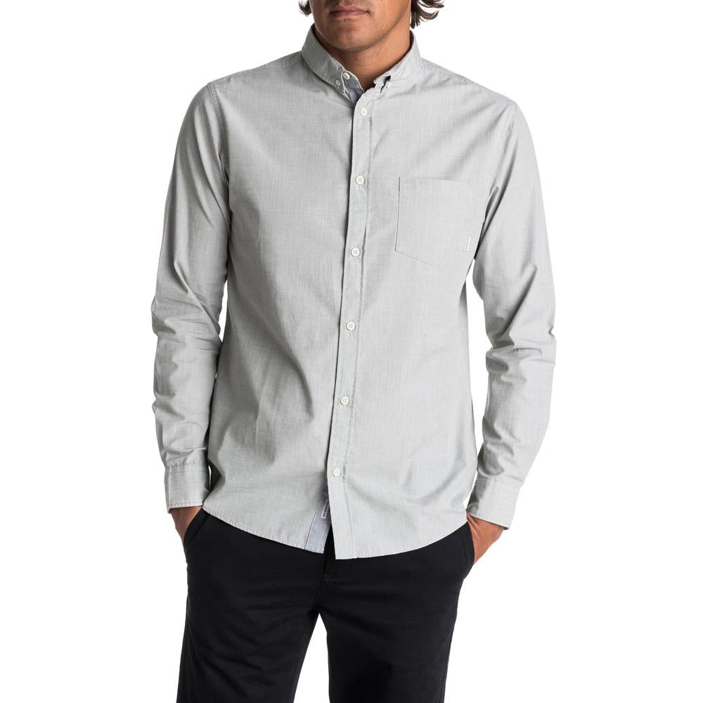 quicksilver Wilsden LS front view  Mens Button Up Long Sleeve Shirts white eqywt03378-szh0