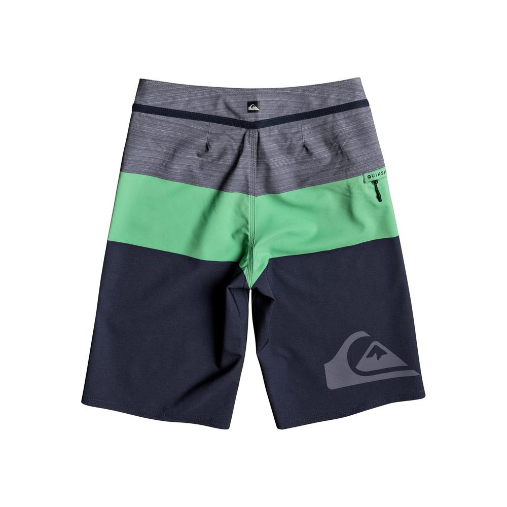 quicksilver Everday Blocked Youth back view Boys Board Shorts green/grey eqbbs03211-ggg6
