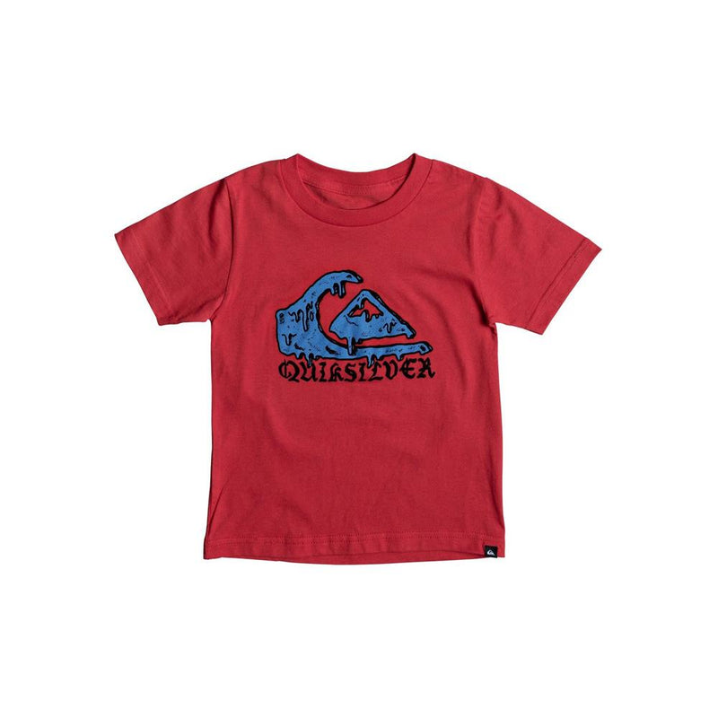 quicksilver Wax Head Boy Tee front view Boys Short Sleeve T-Shirts red aqkzt03275-rqr0
