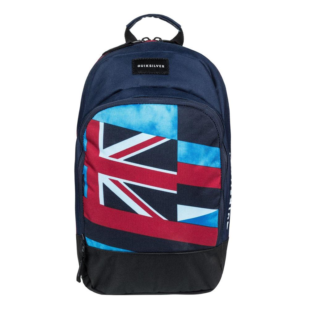 quicksilver Chompine K Backpack front view  School Backpacks blue/red eqkbp03005-brc0