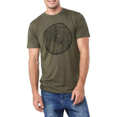 mjeco-grn ten tree eco growth tree mens t-shirts short sleeve green