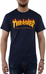 Thrasher, THR-311190-HO20,NAVY,MENS SHIRTS