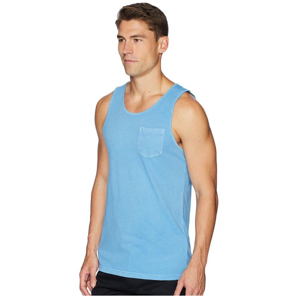 rvca ptc pigment tank side view mens tank tops and jerseys blue