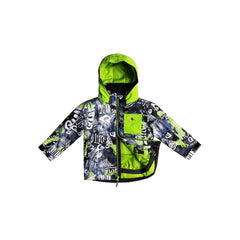 quicksilver little mission jacket front view Boys Snowboard Jacket green
