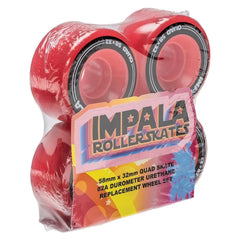 RED,Impala Roller Skates, Replacement wheels 4pack,