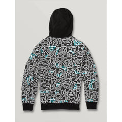 C4831932-BWH, Cool Stone Full Zip Hoodie, Boys 8-12 years, BWH, Black and white, Back View