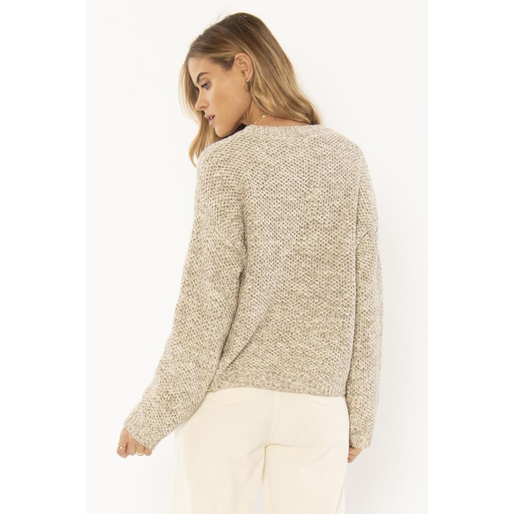 a808mama-oat Amuse Society Amalia Sweater oatmeal back