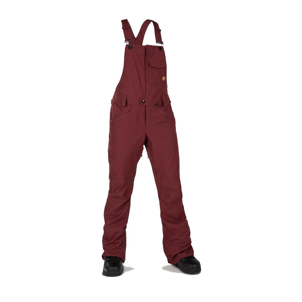 h1352003-scr Volcom Swift Bib Overall scarlet front view