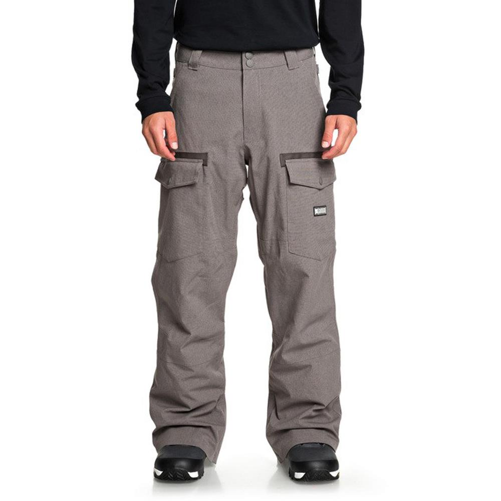 edytp03045-clm0 DC Code Mens Snow Pants dark gull gray front view