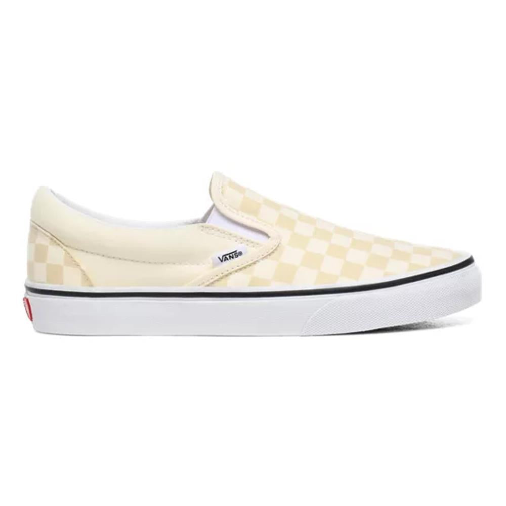 VN0A4U38-WRX, WHITE/WHITE, VANS, CLASSIC SLIP ON CHECKERBOARD SHOES, WOMENS SKATE SHOES, WOMENS SLIP ON SHOES, SPRING 2020