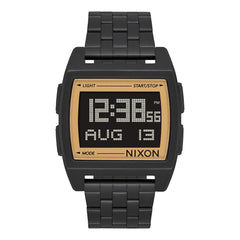 A1107-1031, ALL BLACK / GOLD, Nixon, The Base, Mens Watches, Metal Band Watches