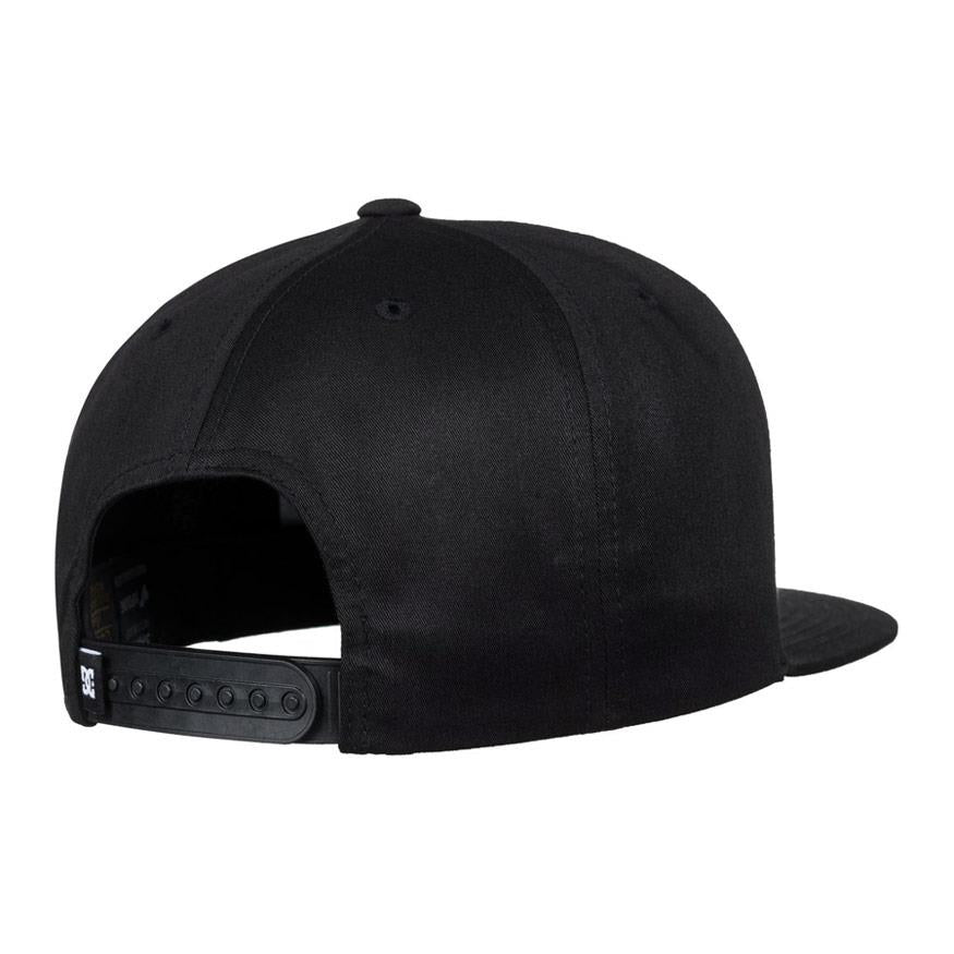 dc snappy snapback hat mens back view mens hats black